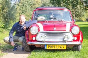 retro Mini Cooper Cabrio huurauto met eigenaar
